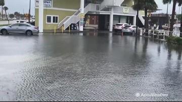Heavy rains flood streets