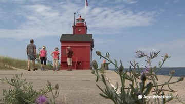 A look at the storied 'Big Red' lighthouse on Lake Michigan
