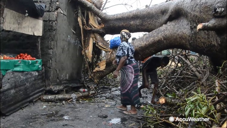 Mozambique officials say more than 90% of the city may be destroyed after cyclone