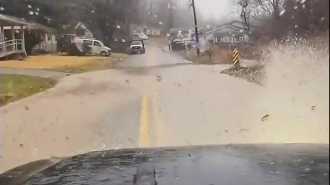 Floodwaters overtake roads in West Virginia