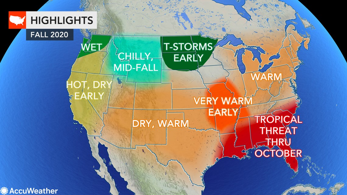 Weather Forecast Louisville For Christmas 2020 Fall forecast: Where will autumn weather arrive first in the US