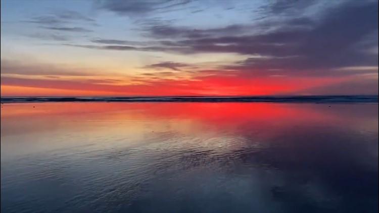 An amazing coastal sunrise