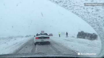 Winter storm leaving drivers stranded on Interstate-17