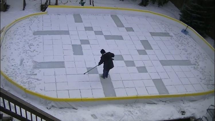 Toronto man turns his backyard into a canvas for massive snow art