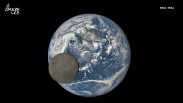 See the Moon Pass in Front of Earth in Epic Photobomb