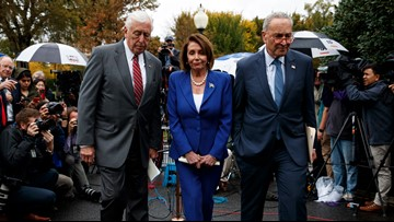 Democrats walk out of Trump meeting on Turkey; Pelosi says president had 'meltdown'