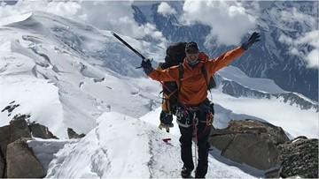 'It's about the journey': NFL player to become first to climb seven summits