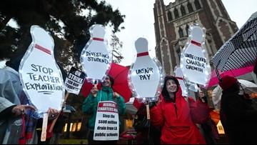 LA teachers are striking but schools are still open
