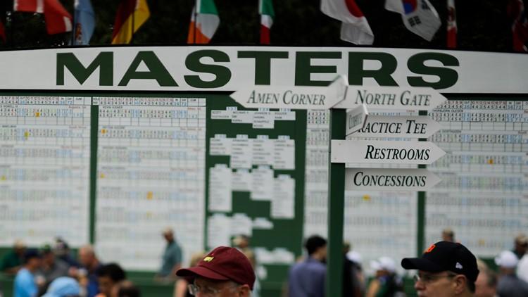 Masters Golf scoreboard 2019