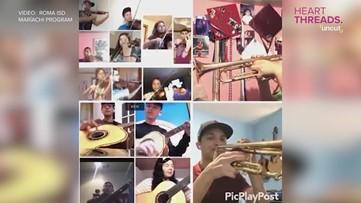 High school mariachi band practices virtually