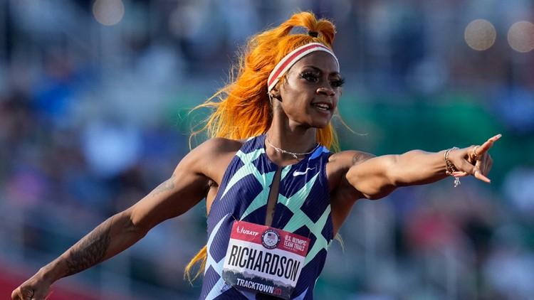 Sha'Carri Richardson notches colorful win at Olympic trials