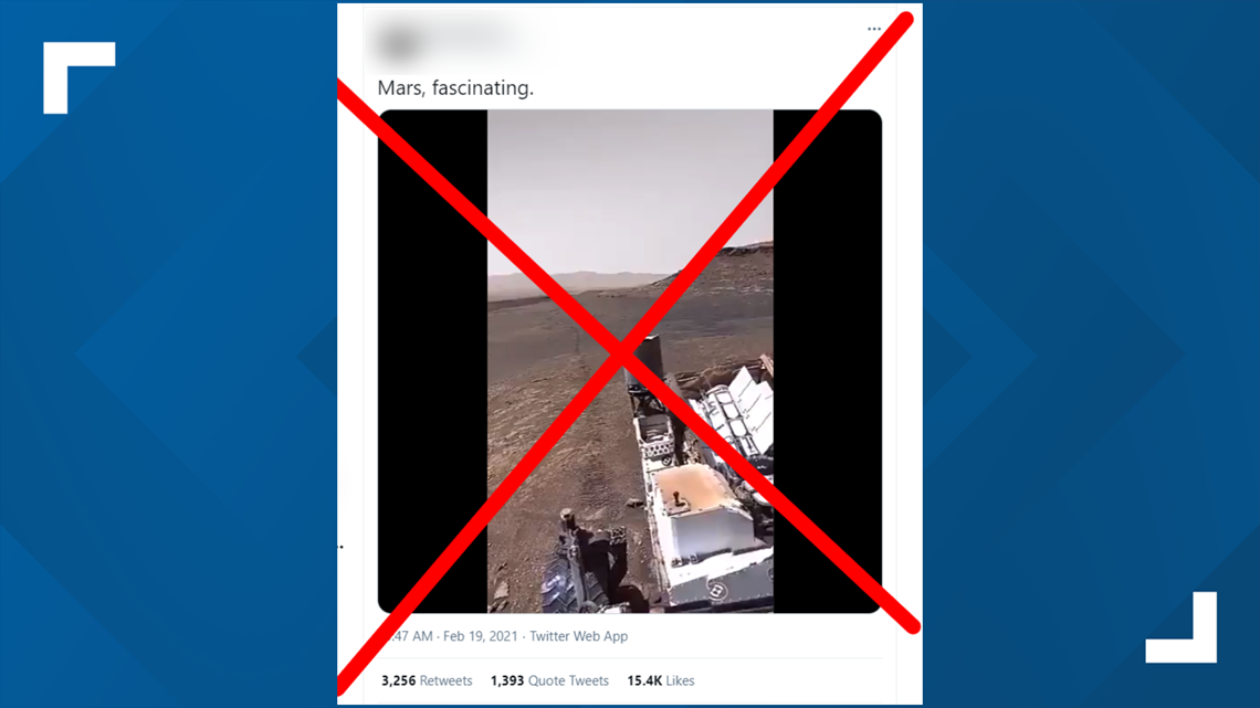 VERIFY: Fake video claimed to be from Mars Perseverance rover goes viral