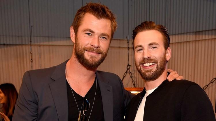 Chris Hemsworth Hilariously Celebrates Chris Evans' Birthday With Pic of Chris Pratt