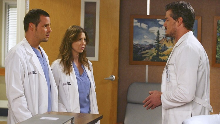 Ellen Pompeo, Eric Dane and Justin Chambers Have Mini 'Grey's Anatomy' Reunion