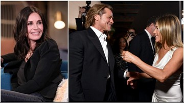 All the Celebs Who Freaked Out Over Brad Pitt and Jennifer Aniston's Reunion at the SAG Awards