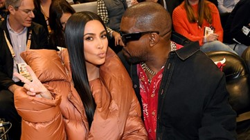 Kanye West and Kim Kardashian Spotted Courtside at 2020 NBA All-Star Game