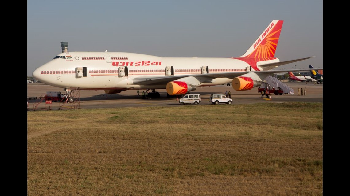hot sale online 999a6 d410b An Air India Boeing 747, set for VIP flights, rests at Indira Gandhi  International Airport in Delhi, India, on April 13, 2018.