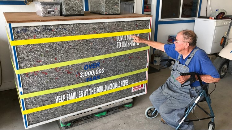Life spent cleaning town: Man collects 3 million pop tabs