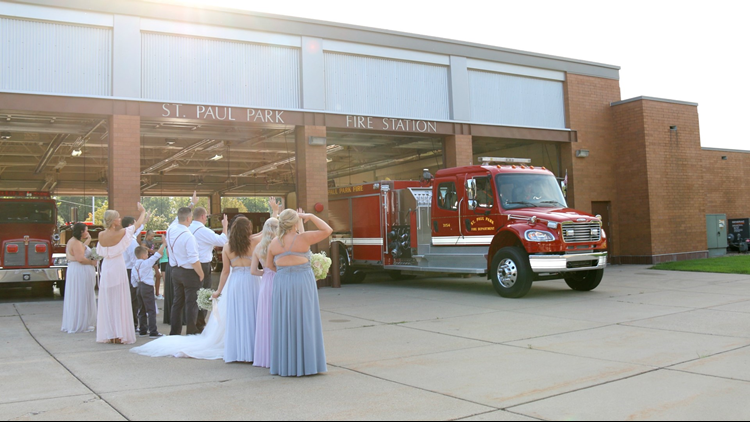 Firefighter leaves his wedding to fight a fire