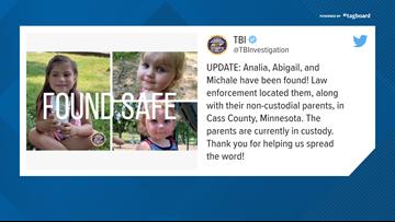 Missing Tennessee children found safe in Minnesota