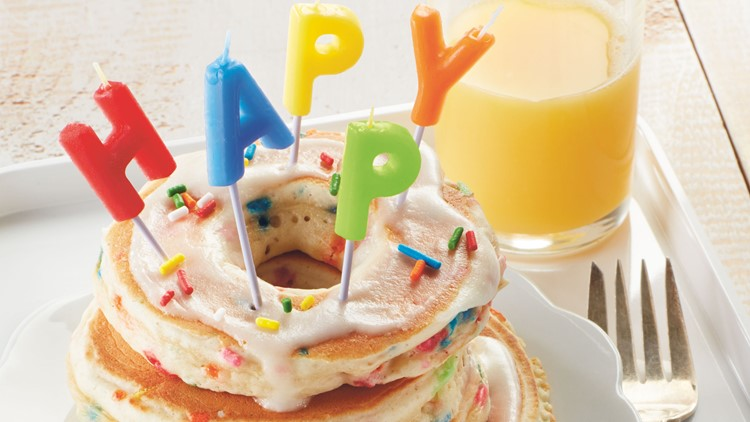 Celebrate the 100th anniversary of Betty Crocker with Birthday Donut Pancakes