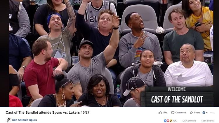 'The Sandlot' cast reunites at San Antonio Spurs game