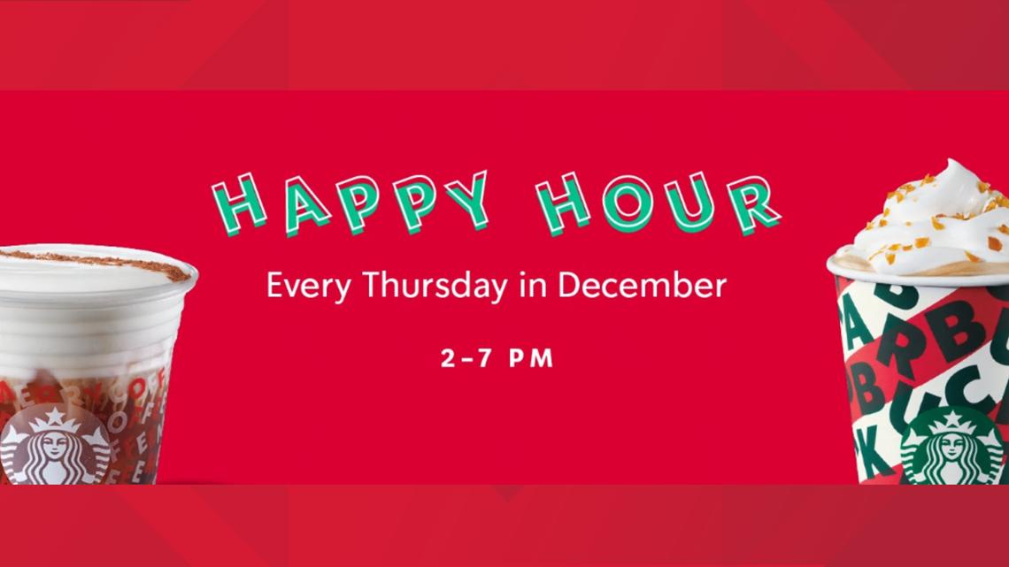 Starbucks to offer 'Happy Hour' every Thursday in December