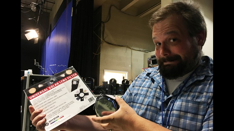 KGW Chief Photographer learned the station's solar lens filters were recalled this morning