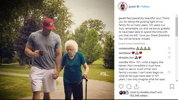 J.J. Watt calls out Twitter user criticizing him after his post about great-grandmother's death