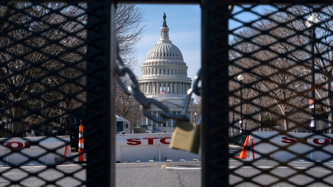 Protesters gather at fortified US capitols