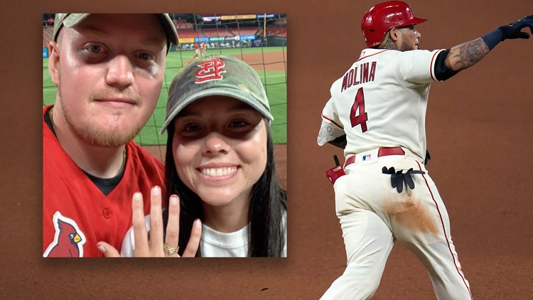 'You can't make that stuff up'   Yadier Molina gives couple engagement story of a lifetime