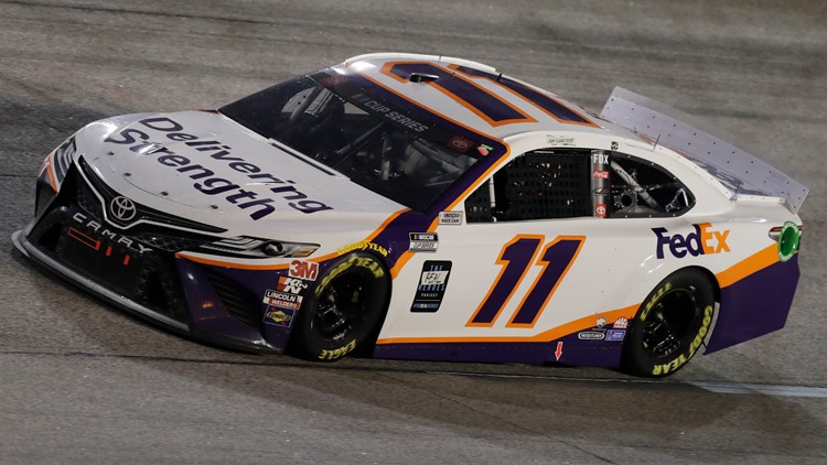 NASCAR driver Denny Hamlin pays tribute to those killed in Indianapolis FedEx shooting