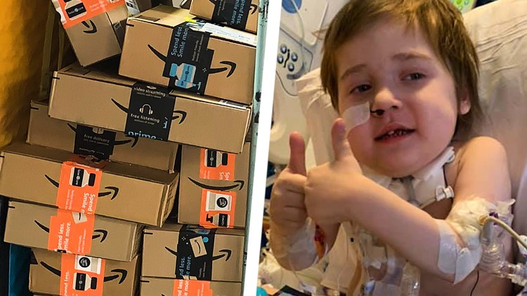'I don't know if it's going to stop' | Hundreds of packages of stickers, cards to hospitalized 5-year-old