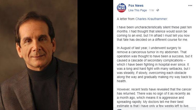 Charles Krauthammer, influential conservative commentator, dies at