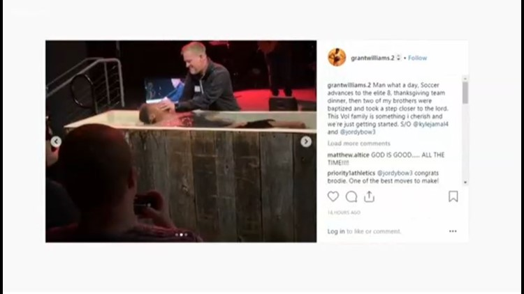 'God you're Good' | Tennessee basketball players break for baptism