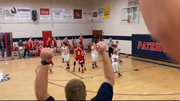 'I swished it like Michael Jordan, didn't I, mom?' | Student with autism has his basketball dream come true
