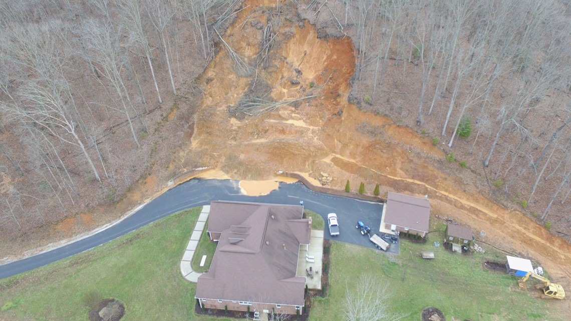 'We don't know what to do' | Massive landslide still threatening Tennessee couple's home