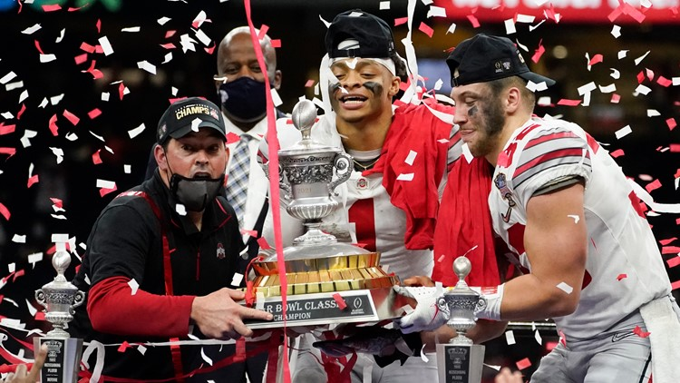Fields' day: No. 3 Ohio State routs No. 2 Clemson 49-28 | whas11.com