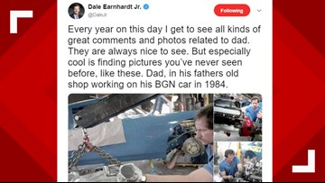 Dale Earnhardt Jr. shares rare photos of father 18 years after his death