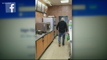 'Get out!' NC Subway restaurant owner slaps customer in shocking viral video