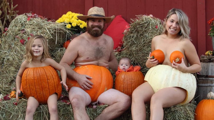 'Oh my gourd' Family's pumpkin photo sparks tradition and goes viral