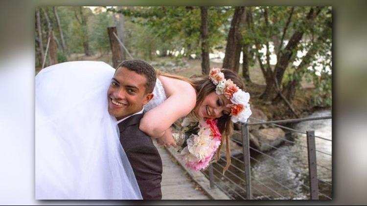 Britt and Chris Harris married! Pic. Courtesy: Ben Dunlap
