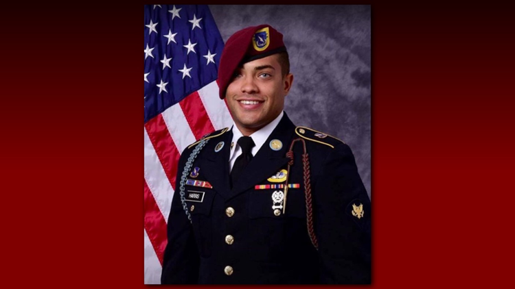 """U.S. Army Spc. Christopher """"Chris"""" Harris, 25, killed August 2 by a suicide bomber in Afghanistan."""