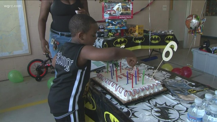 Buffalo firemen give 6-year-old boy surprise birthday party