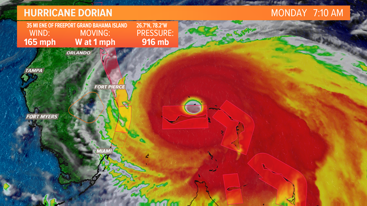 Hurricane Dorian is a Category 2 storm causing catastrophic damage in the Northern Bahamas