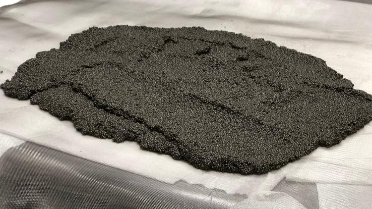 Batch of caviar drying