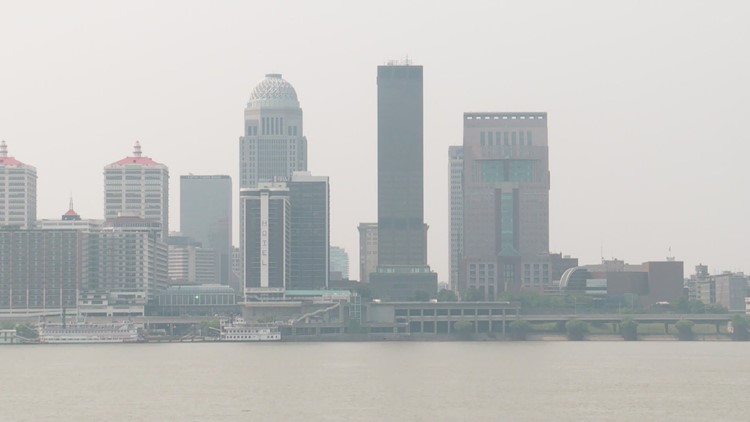 Smoky haze from wildfires seen in Louisville could pose health risk for some