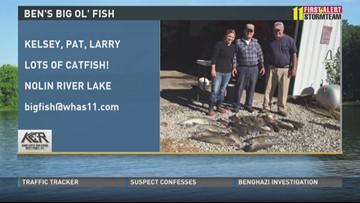 Ben's Big Ol' Fish: Kelsey, Pat and Larry