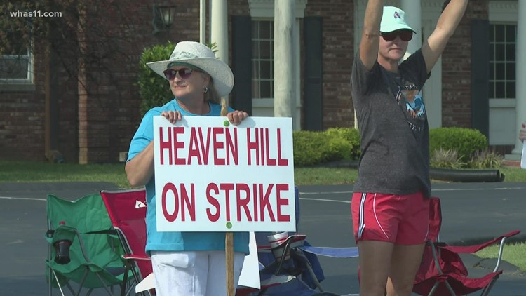 Heaven Hill Distillery employees go on all-day strike over contract