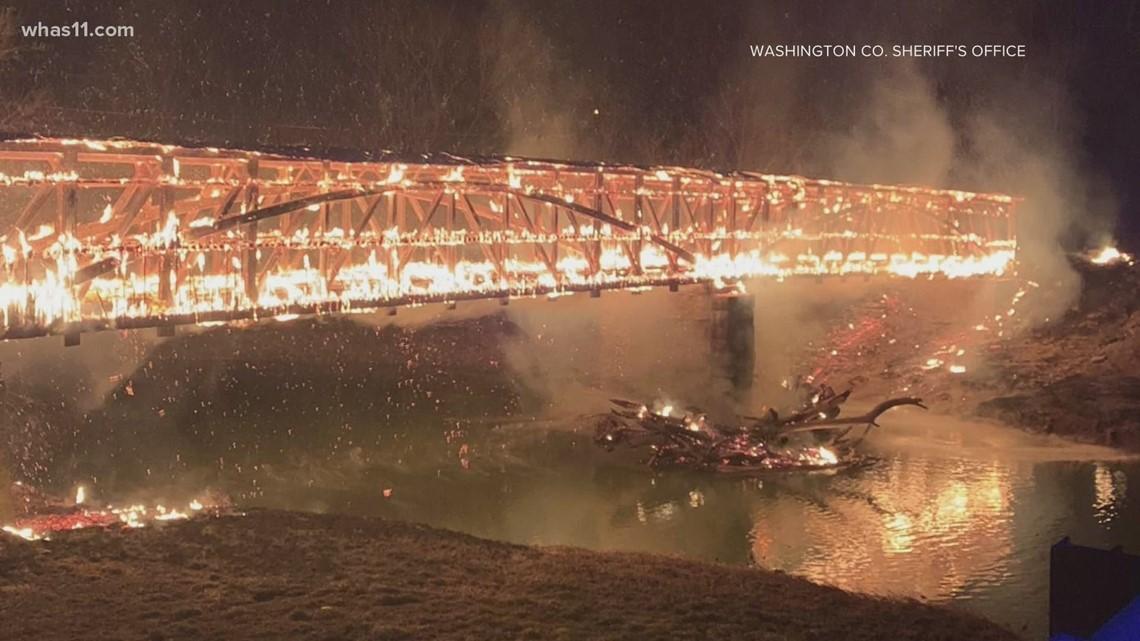 Reward offered to solve Mt. Zion bridge fire